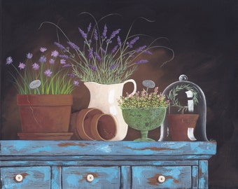 Herbs Folk Art Print