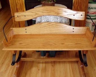 Buck Board Bench Little House Style Oak Bench