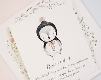 Baby Owl - Baby Shower Invitation