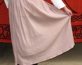 Muted Dusty Rose Peasant Skirt with Elastic Waist Perfect for Renaissance and other costumes Small Medium