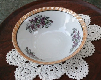 Vintage Floral Serving Bowl