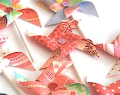 Love Day Sequined Pinwheels - Cupcake Toppers/Party Picks