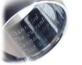 Laser Ring Engraving, Original Ring, Special Order, Engraved Ring, Jewelry Designs