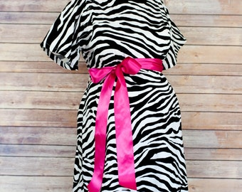 ON SALE 30% OFF - Zebra Maternity Hospital Delivery Gown -Super Soft Fabric - The perfect gift to make her delivery amazing