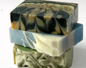 3 Bar Soap Sampler / Gift Set - Cold Process Olive Oil Soap/  Handmade Soaps for Sale