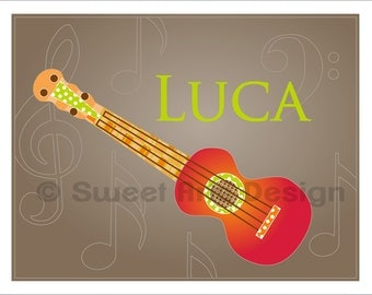 Guitar  -  Wall Print  (or)  Greeting Cards