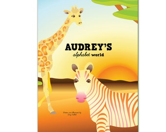 My Alphabet World ANIMALS - Personalized  (Softcover)
