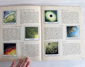 Vintage Children Stamp Book Conquest of space 70's - Encyclopédie par le timbre La conquête de l'espace
