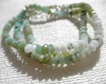 Peruvian Opal necklace - opal necklace - sterling silver necklace -  wrap bracelet - H A L E Y 234