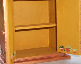 OOAK Miniature 1/12th scale Potted Plant Wardrobe or 1/24th scale Doll House