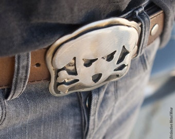 Dog Belt Buckle, Outlaw Doggy,  Metal Belt Buckle,  Men's Belt Buckle, Womens Belt Buckle, Dog Lovers, Big Belt Buckle / Holmes Dog Buckle