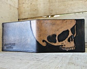 Leather Wallet Godspeed Skull