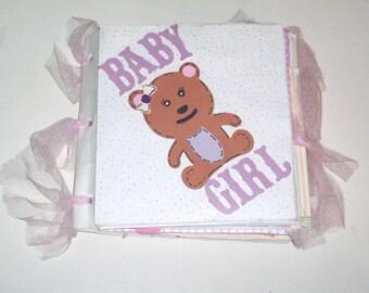 Handmade Lunch sack Baby Shower Photo Album