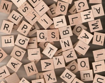 Vintage Scrabble Pieces For Your Crafting Needs