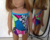 18 Inch American Girl Doll Clothes Wild about the Beach Swim Suit Ready to Ship
