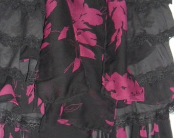 Steampunk Black and Pink Mini Wenching Skirt