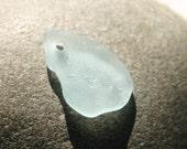 Soft Aqua Bonfire Seaglass for Jewelry. Top Drilled. Lot H1.