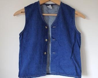 Denim Vest Vintage Jean