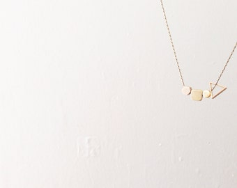 little shapes (brass geometric necklace)