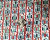 SALE-25%-1/2 Vintage Feedsack - Blues Greens Reds