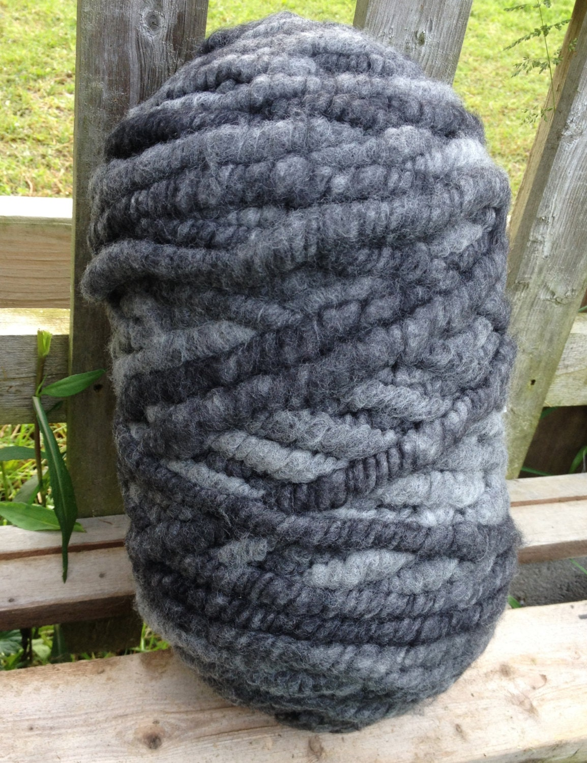 Merino Rug Yarn Super Bulky 130 Yards Cotton Core Charcoal