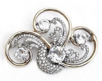 Amazing Beauty! Reja Unsigned Diamante Brooch