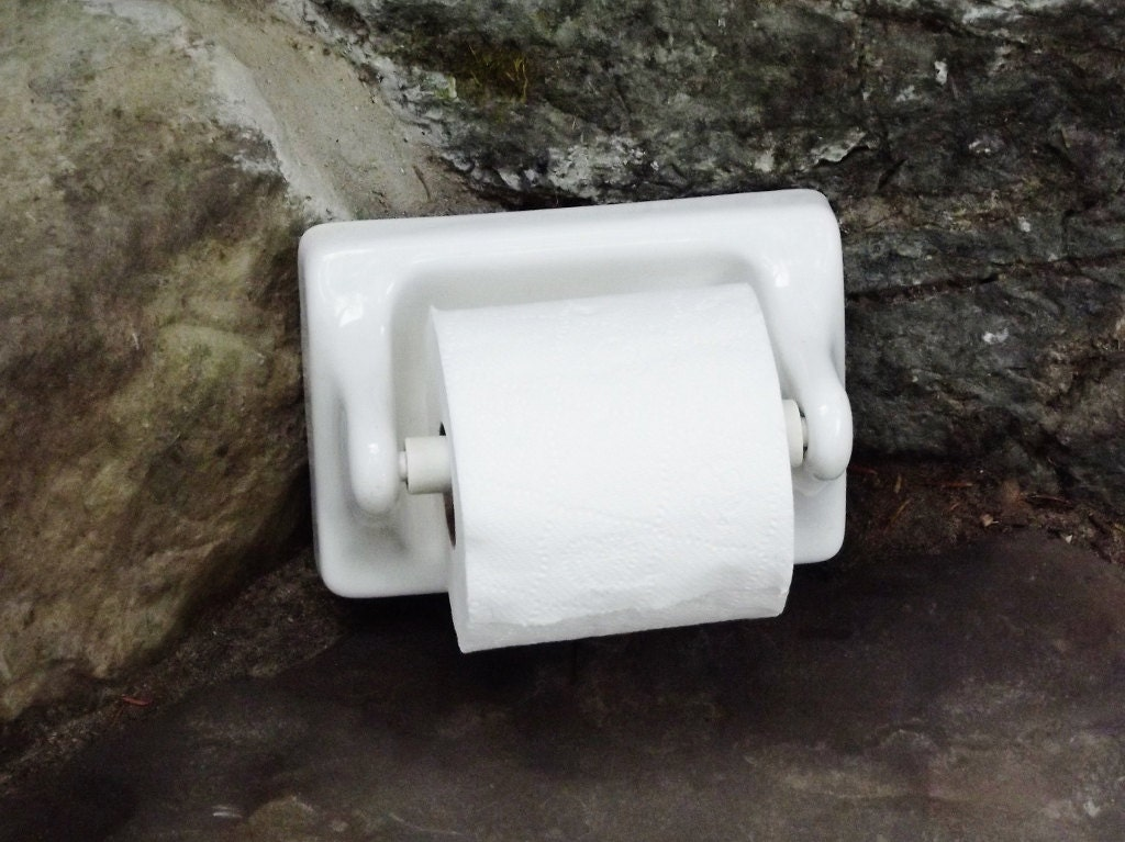 Vintage Porcelain Toilet Paper Holder