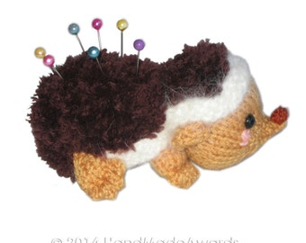 Baby HEDGEHOG Pincushion Pdf Email Knit PATTERN