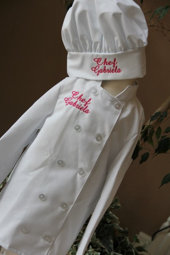 Items Similar To Child S Personalized Chef Coat And