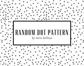 Random Dots. Seamless Background for Websites, blogs, digital scrapbook. 3 Colors, black white, navy white, green white, instant download