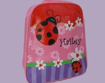 Personalized Stephen Joseph GoGo Backpack LADYBUG Themed Bag