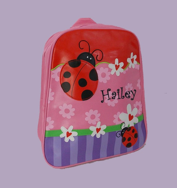 Personalized Stephen Joseph GoGo Backpack LADYBUG Themed Bag