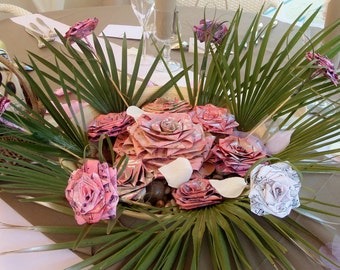 Centerpieces - customizable paper roses