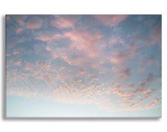 Cloud Photo on Canvas, Nature Fine Art Photograph Gallery Wrapped Canvas, Large Wall Art, Home Decor