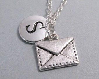 Envelope Love Letter Silver Plated Charm jewelry Supplies