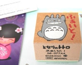 Totoro Wooden Stamp FIGHT