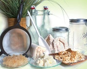 Milk and Water Kefir Grains Full COMBO KIT Strainers Jars PICTURE Guides