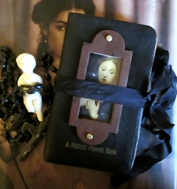 RESERVED-------Altered Vintage Pocket/Prayer/Journal?Book