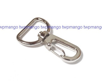 10 Silver Metal Lobster Swivel Clasps Clips H45-10