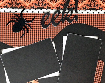 Scrapbooking Layout Halloween 12x12 2 page scrapbook kit premade