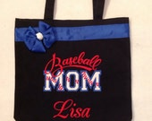 Personalized Tote Bag, Personalized Tote, Baseball Mom Tote Bag, Baseball Mom Tote, Proud Mom Gift, Personalized Baseball, Sports Mom