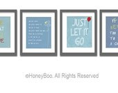 Set of 4 art prints, quotes posters, typography prints, from 8x10 inch up to 16x20 inch