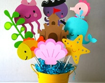 Under the Sea centerpiece for a birthday or any occasion, party, themed party/ birthday