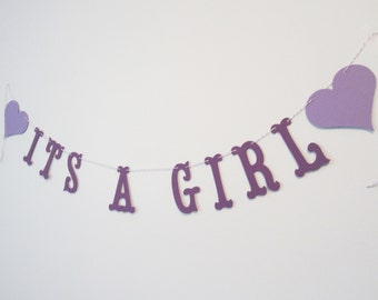Popular items for its a girl banner on Etsy