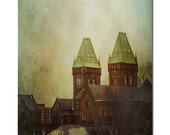 Architecture photography / Buffalo NY/ fine art photo / NY State / dark / creepy building / Mental institution / Mist / fog / 8x12