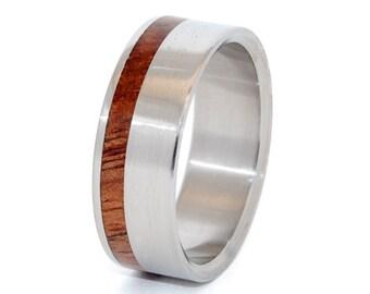 Titanium Wooden Wedding Rings, Mens Rings, Womens Rings, Popular Rings, Eco-Friendly Rings, Unique Wedding Rings, AUTUMN ROMANCE