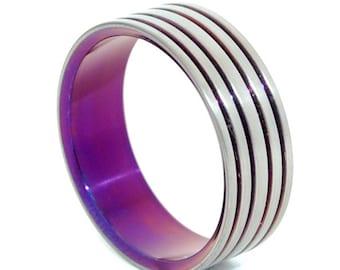 wedding rings, titanium rings, wood rings, mens rings, Titanium Wedding Bands, Eco-Friendly Rings, Wedding Rings - MANY PATHS