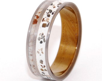 wedding rings, titanium rings, antler rings, concrete rings, Titanium Wedding Bands, Eco-Friendly Wedding Rings, Wedding Rings - OPHIR