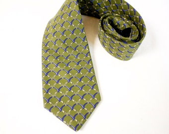 Vintage  Green Necktie - Brooks Brothers Green tie