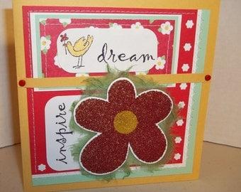 Handmade Card--DREAM-INSPIRE--all occasion card